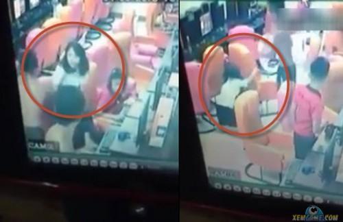 Cô gái lấy thân mình che cho bạn trai bị hội đồng tại quán Net