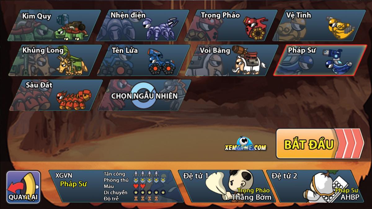 Trận Chiến Huyền Thoại | XEMGAME.COM