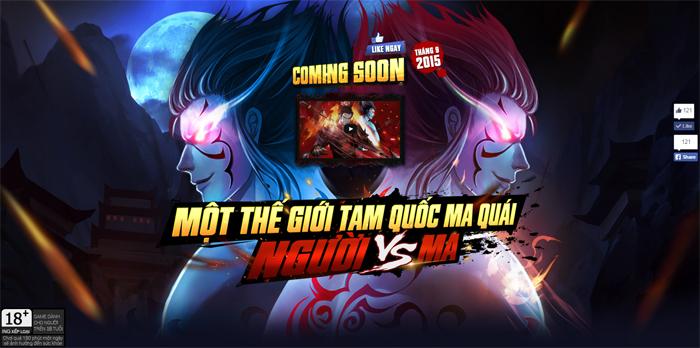 Quỷ Chiến Tam Quốc ra mắt trang chủ, mở game vào tháng 9
