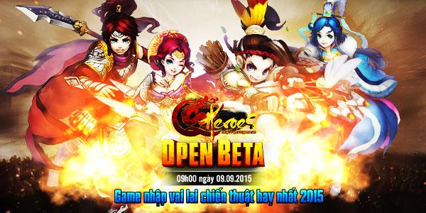 Q Heroes chính thức Open Beta vào 09h00 ngày 9/9