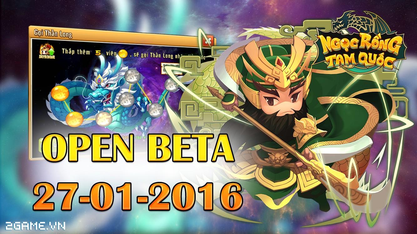Ngọc Rồng Tam Quốc chuẩn bị Open Beta, mở thêm server mới Quan Vũ