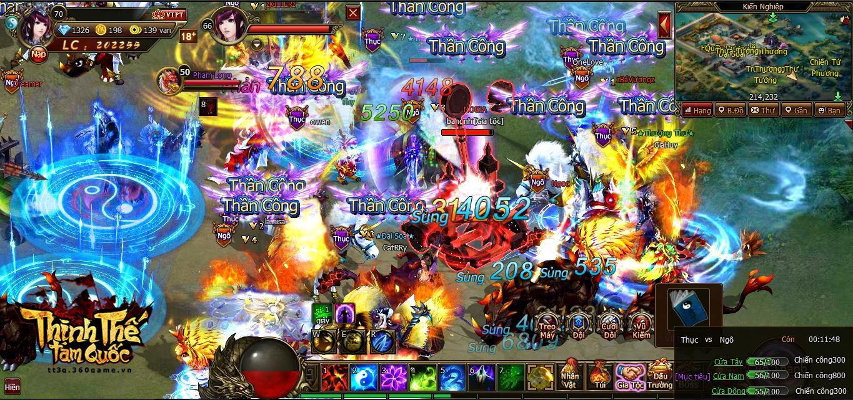 Quốc chiến công thành đầy khói lửa cùng game Thịnh Thế Tam Quốc