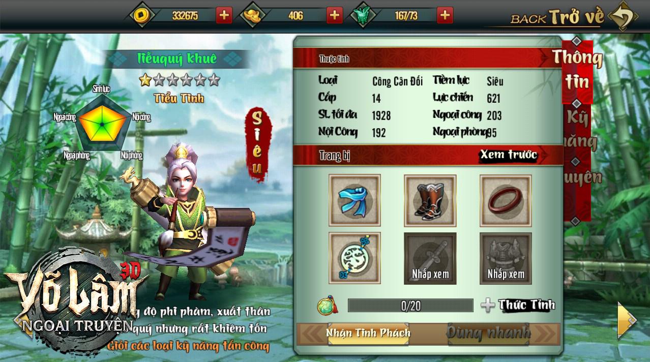 Hướng dẫn Tân thủ từng bước chinh phục Võ Lâm Ngoại Truyện mobile