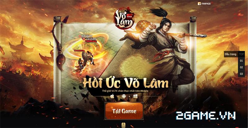 Game Việt Nam sản xuất Tình Võ Lâm ra mắt trang chủ, chuẩn bị mở game