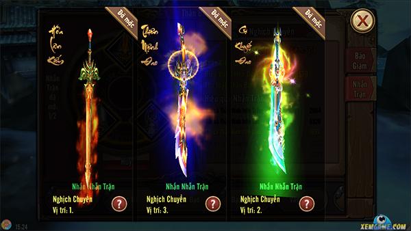 Phong Vân 3D: Tăng mạnh lực chiến bằng nhẫn trận thần binh
