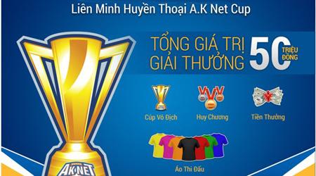 LMHT: Chung kết A.K Net Cup sẽ khởi tranh vào 18/01