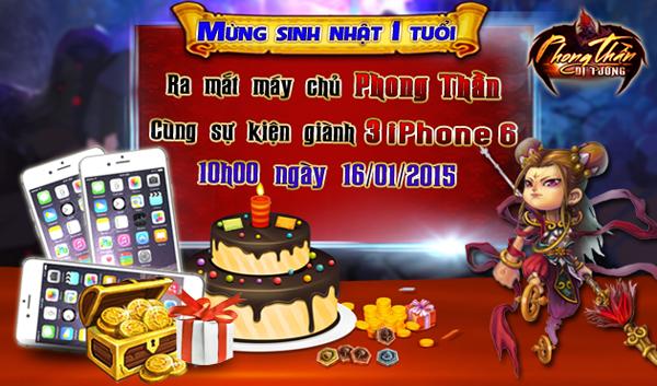 Tặng 200 giftcode game Phong Thần Dị Tướng