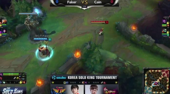 LMHT: Faker vs Cain giải The Solo King 1v1 Hàn Quốc [Full]