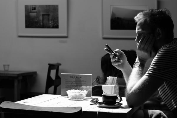 Alone cafe