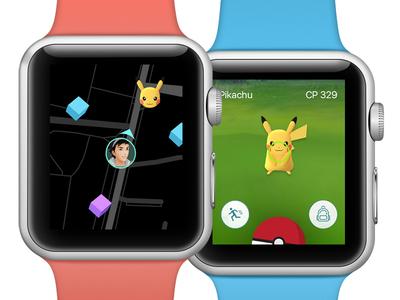 Pokemon GO đã chơi đc trên Apple Watch, ơn giời gane thủ ko sợ bị giật điện thoại nữa rồi!