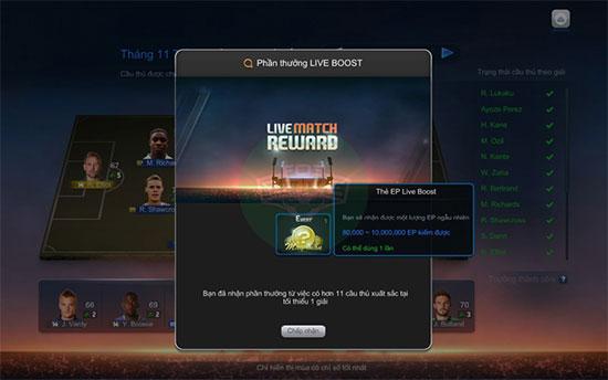 Fifa Online 3: Đội hình Live Boost xuất sắc nhất tuần 1 tháng 10
