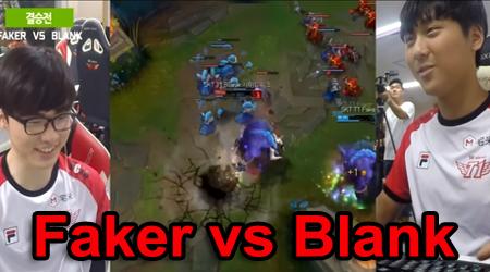 Khi đại gia đình SKT T1 so tài solo: Faker vs Blank