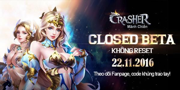 Crasher – Mãnh Chiến ấn định ngày Closed Beta Không Reset