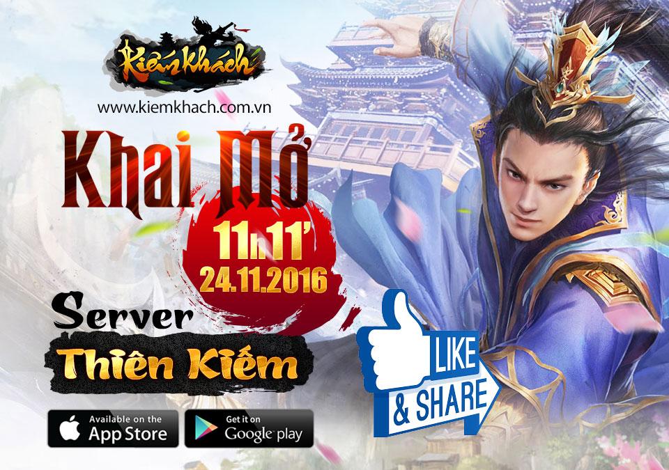 XemGame tặng 200 giftcode game Kiếm Khách mừng server Thiên Kiếm