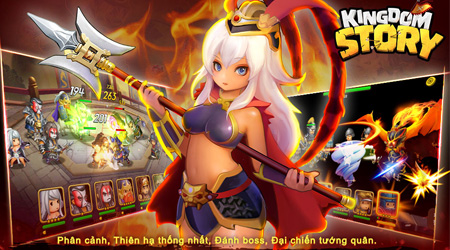 Kingdom Story: Game quốc tế chất lượng cao hỗ trợ ngôn ngữ Tiếng Việt