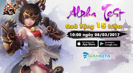 Nhân dịp Alpha Test, Kiếm Vũ Mobi Gamota tặng hàng triệu đồng giftcode cho game thủ