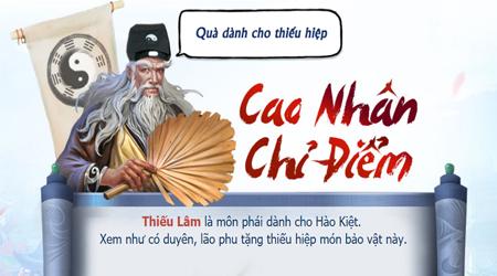Tham gia Nhất Thống Giang Hồ để được đoán tính cách miễn phí