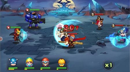 Anh Hùng Loạn Chiến, xem các nhân vật chính trong tựa game và truyện tranh choảng nhau