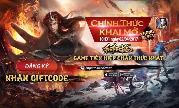Tru Tiên Kiếm tặng 200 giftcode nhân ngày Open Beta
