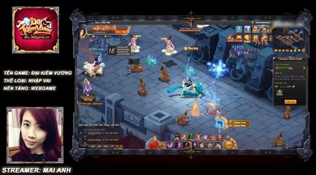 Du hí vào game kiếm hiệp cực đáng yêu Đại Kiếm Vương cùng Mai Anh