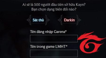 LMHT: Tham gia nhận tướng Kayn miễn phí từ sự kiện của Garena ngay bây giờ