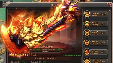 Huy Chương trong webgame Đại Kiếm Vương không chỉ để làm đẹp