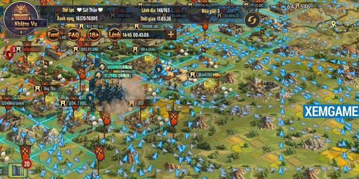 Fan game chiến thuật 'không hẹn mà gặp' tại server mới của ROW Tam Quốc Truyền Kỳ