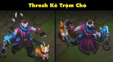 Liên Minh Huyền Thoại: Độc lạ với trang phục Thresh – 'Kẻ Trộm Chó' :))