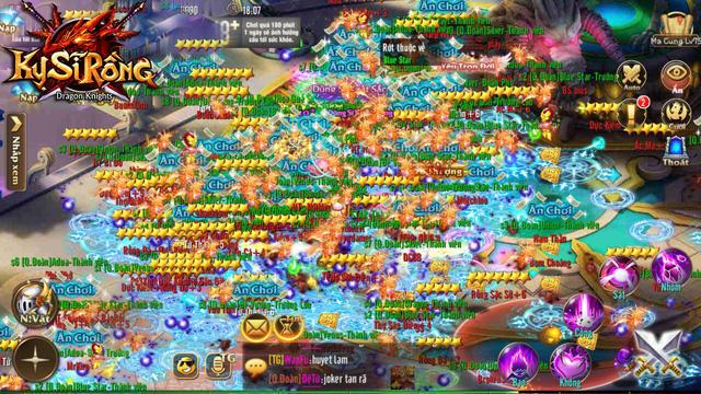 Hiếm có tựa game nào mang lại khung cảnh bang hội đông đúc như Kỵ Sĩ Rồng mobile