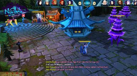 Ngũ Thần Online cũng có cả thể thức đối chiến kiểu MOBA đầy cân bằng