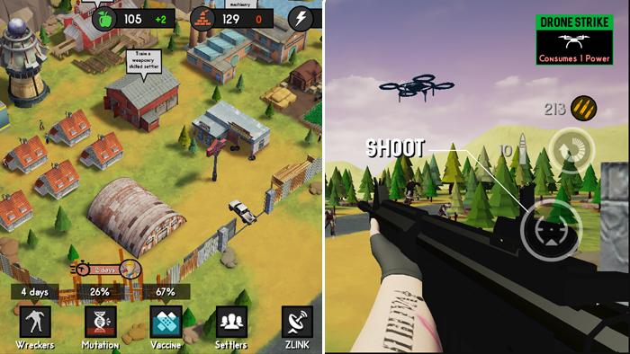 Survival Block : game thủ thành kết hợp bắn súng chống zombie mới lạ