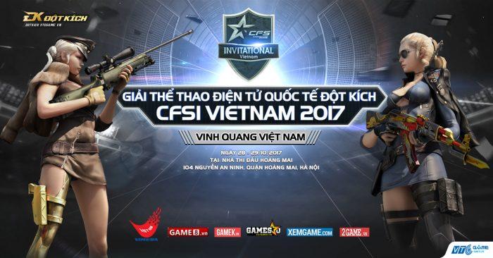 5 khu vực hội tụ trong giải đấu Đột Kích Quốc tế CFSI Việt Nam 2017