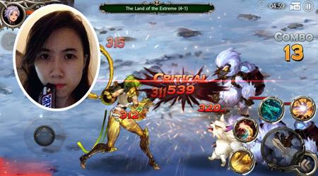 Quẩy hết mình cùng game thủ Mai Anh trong tựa game Dragon Spear