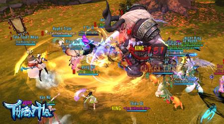 Game thủ Thiên Hạ 3D thường xuyên phải tương tác với nhau trong hầu hết các hoạt động