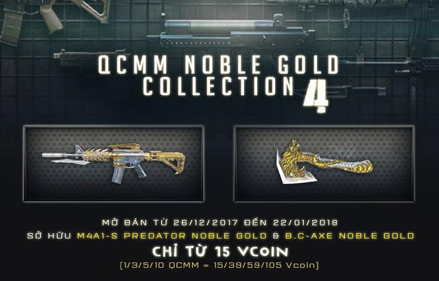 Game thủ Đột Kích hăm hở đi quay bộ vũ khí Noble Gold mới