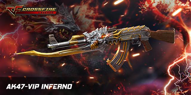 Crossfire Legends : AK47 VIP Inferno – siêu vũ khí với ngoại hình đầy cá tính