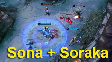 """Liên Minh Huyền Thoại: Sona + Soraka 2 em """"y tá"""" này đi với nhau thì đảm bảo bất tử"""