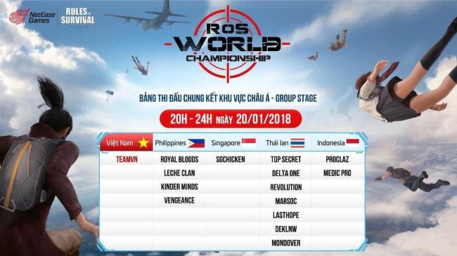 Tối mai cổ vũ TeamVN thi đấu Final RoS World Championship Asia