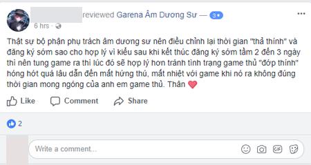 """Fanpage Âm Dương Sư của Garena ăn mưa review xấu vì """"thả thính"""" quá lâu"""