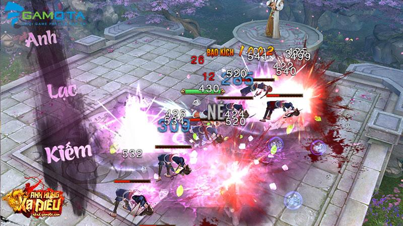 Bí quyết giúp game thủ Anh Hùng Xạ Điêu Gamota tăng cấp vèo vèo
