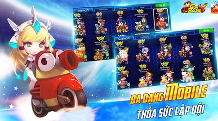 Hệ thống Mobile trong Gunbound M thể hiện đặc trưng riêng của mỗi người chơi trong các trận so tài