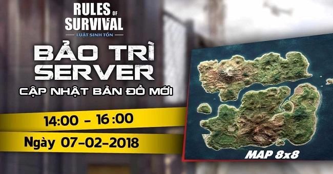 Đừng bỏ lỡ chế độ sinh tồn 300 người chơi của Rules of Survival xuất hiện chiều nay