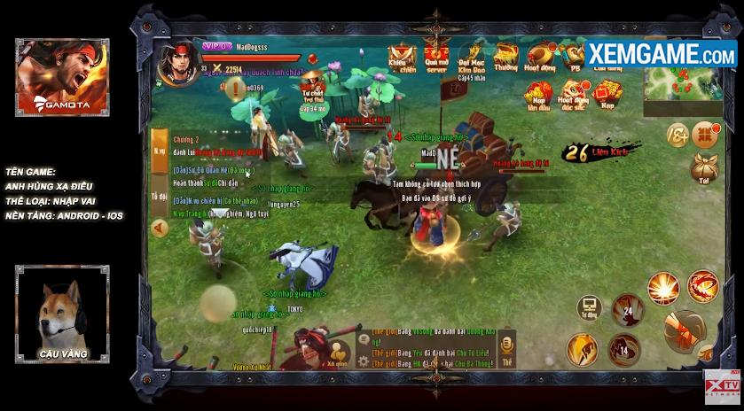 Cày game Anh Hùng Xạ Điêu Gamota cực hiệu quả cùng streamer Mad Dog