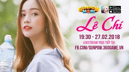 Nữ diễn viên trẻ xinh đẹp Lê Chi bắt đầu năm mới bằng việc tập tành bắn GunPow