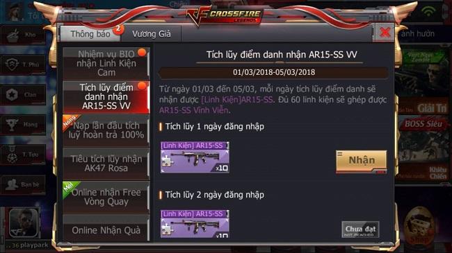 Crossfire Legends : Đăng nhập ngay hôm nay để nhận AR15-SS vĩnh viễn