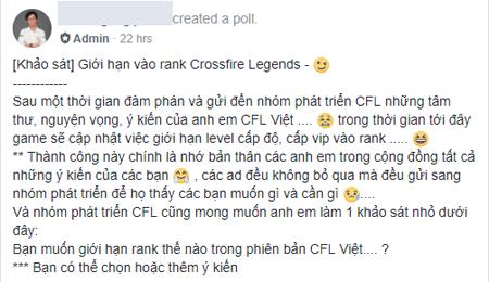 Crossfire Legends chuẩn bị giới hạn rank để chống hack