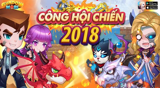 Các Công hội trong GunPow Mobi hào hứng tham gia giải đấu Công Hội Chiến 2018