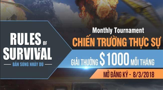 ROS Mobile Monthly Tournament – Thêm một giải đấu hấp dẫn cho xạ thủ Việt
