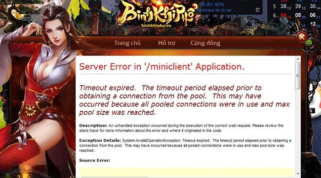 Game Binh Khí Phổ chính thức bị NPH VTC Game bỏ rơi