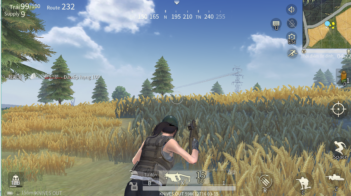 Knives Out PC supports Vietnamese, can it compete with Rules of Survival?